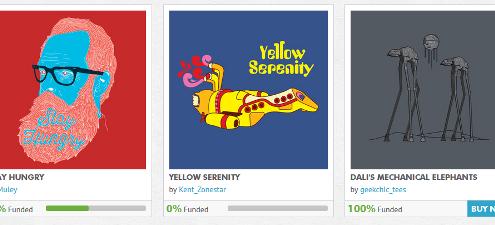 teepublic camisetas crowdfunding